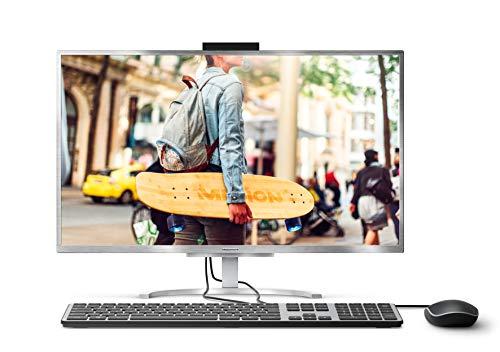 Medion Akoya E23401 All-in-One PC – Ordenador sobremesa Todo en uno de 23.8″ FHD (Intel Core i5-8250U, 4 GB DDR4, 128 GB SSD, Intel UHD Graphics, Windows 10 Home) Color Plata    Precio: 499€