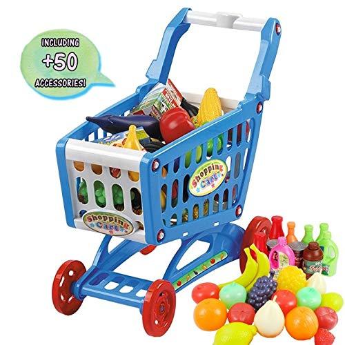 👕️ deAO Carrito de la Compra Infantil Incluye Variedad de 50 Productos de Mercado y Comestibles (Azul)   💸 Precio: 24.99€    🛒    Prueba nuestro asistente de tallas: @avisotallas_bot. Te