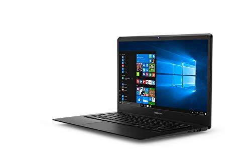 Medion MD61338 – Ordenador portátil 14″ FullHD (Intel Atom x5-Z8350, 2GB RAM, 32GB almacenamiento (ampliables con tarjeta de memoria SD) Intel Graphics, Windows10) Negro – Teclado QWERTY Español