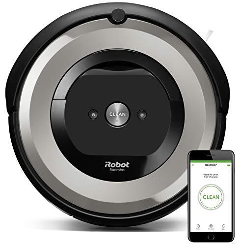 iRobot Roomba e5154 – Robot Aspirador Óptimo Mascotas, Succión 5 Veces Superior, Cepillos de Goma Antienredos, Sensores Dirt Detect, Suelos Duros y Alfombras, Wifi, Programable App, compatible Alexa