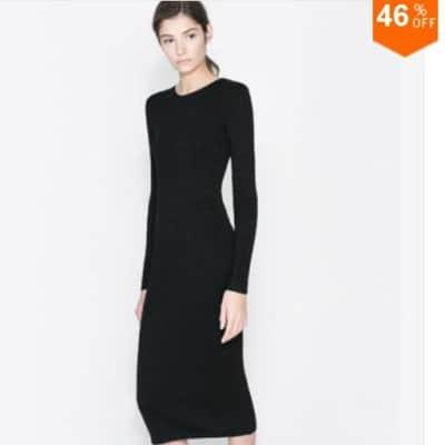 Vestido de punto por tan sólo 9,44 euros. Ahorra un 46% de su precio habitual