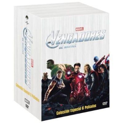 Colección 6 películas Los Vengadores por 30 euros