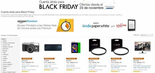 Buenos ahorros con el Black Friday de Amazon