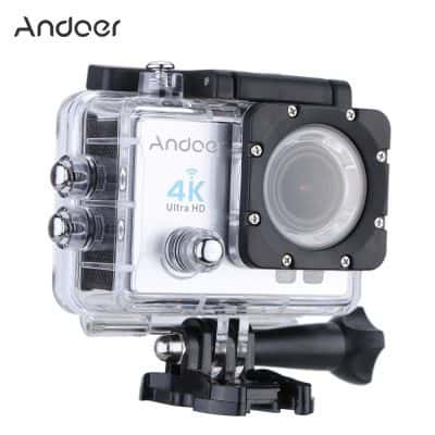 Oferta cámara deportiva Andoer 4K por 37 euros (55% dto.)