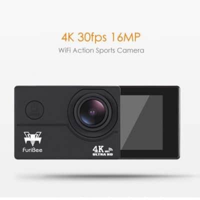 Oferta videocámara de acción FuriBee F60 4K por 17 euros (Cupón Descuento)