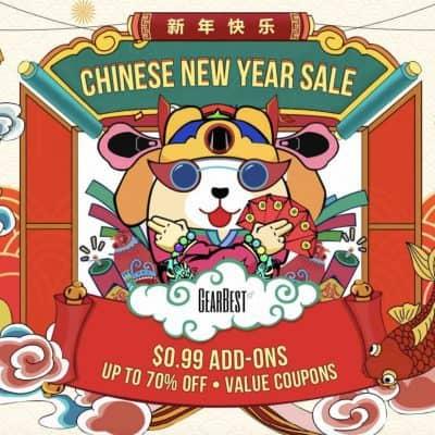 Cupones de descuento Gearbest Año Nuevo Chino