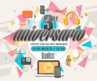 Tercer aniversario de Gearbest. Una locura de ofertas