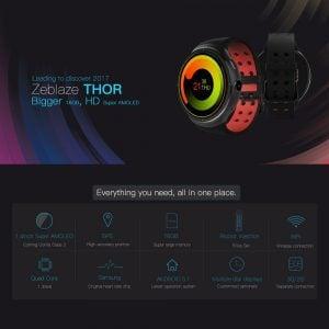 Oferta Smartwatch con Android Zeblaze THOR por 83 euros (Cupón descuento)