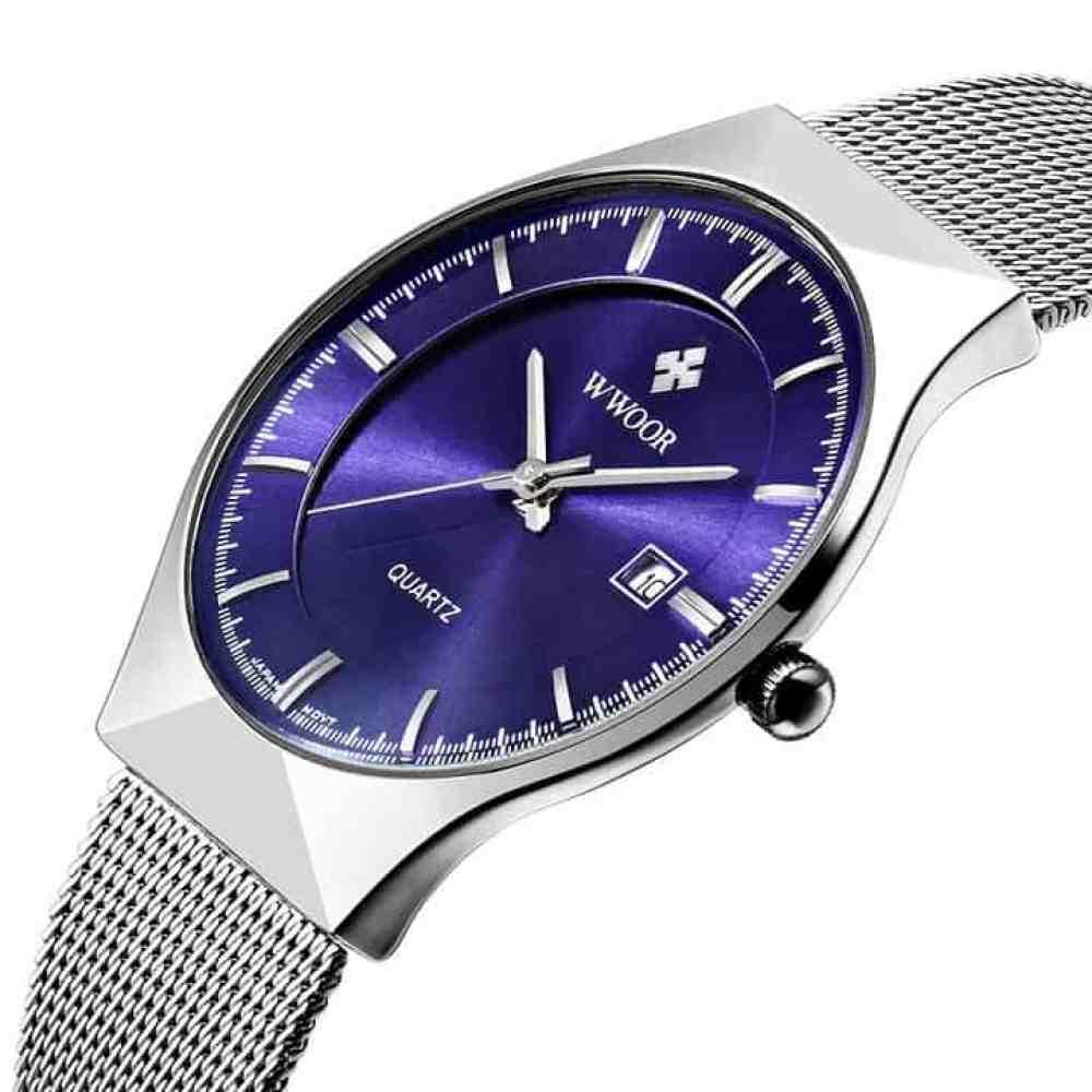 Oferta reloj de acero WWOOR 2016 por 11 euros (Cupón Descuento)