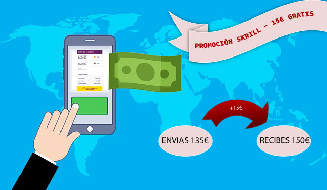 Promocion Skrill – 15€ 💸 gratis