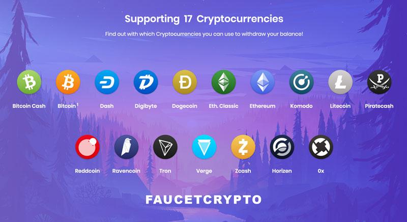 FaucetCrypto, retira en 17 criptomonedas 🤑