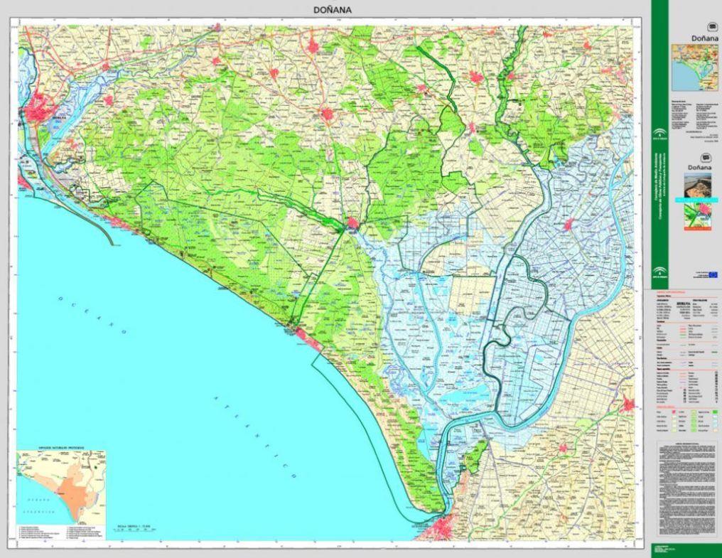 Mapa de Doñana