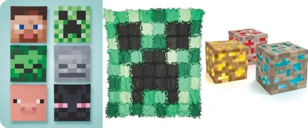 Painted Wall Art, No-sew Fleece Quilt, Ore Lights Photos © Design Originals