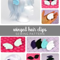 Free Pattern Friday! Winged Hair Clips
