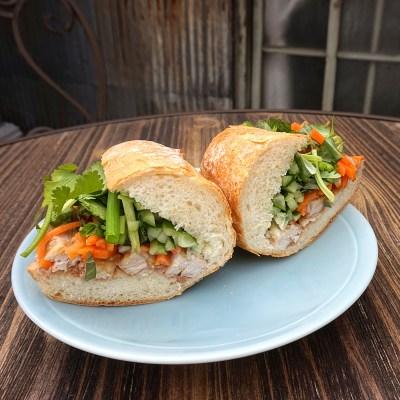 Bánh Mì Thịt Nướng - Grilled Pork Banh Mi Sandwich