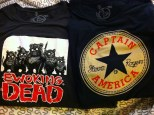 GraphicLab Tees - Two t-shirts (Captain America and The Ewoking Dead) - Soft and comfy--wear them all the time. (Ewoking Dead is my fave!)