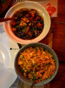 fried rice and black bean sauce (2)
