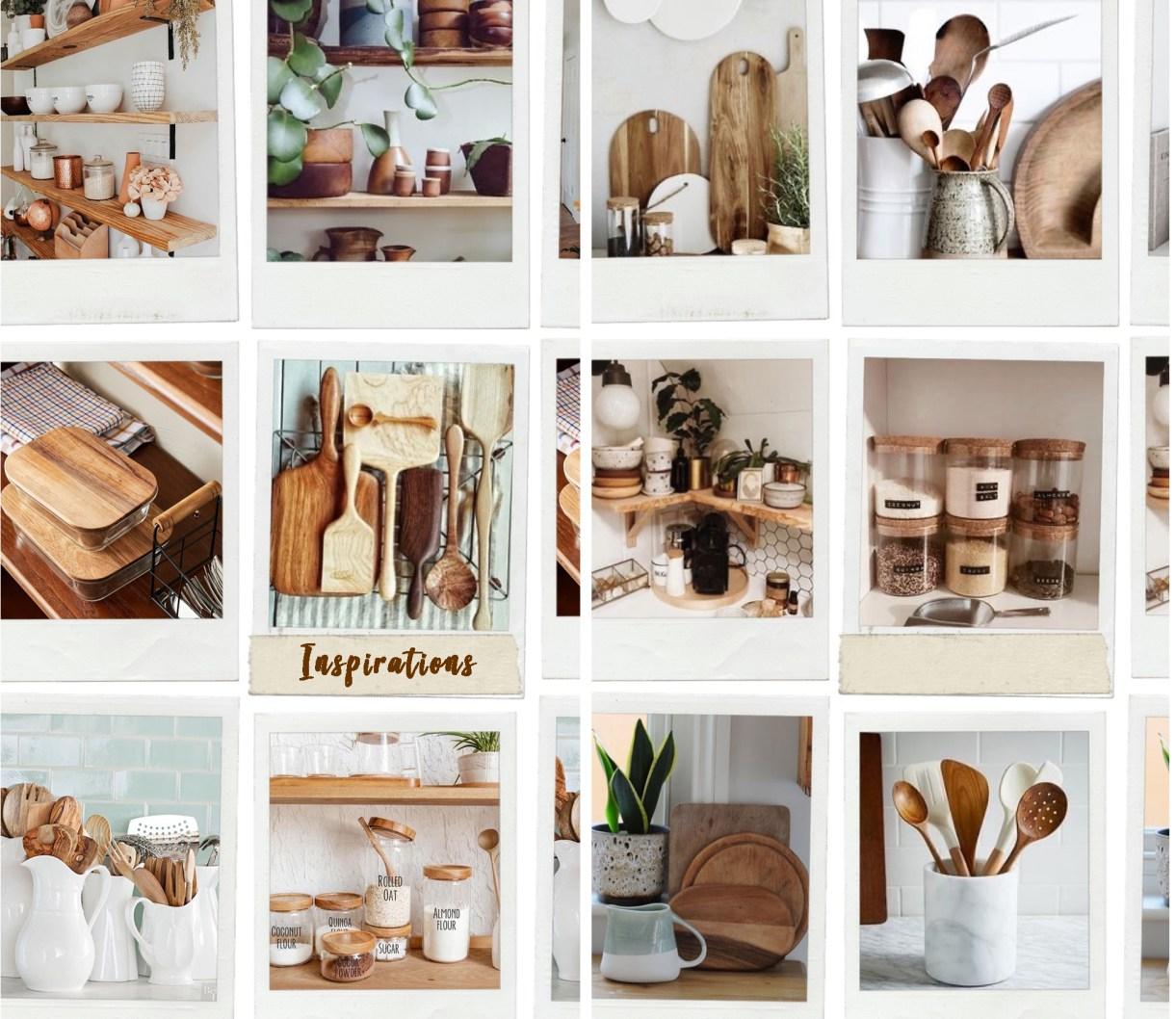 cuisine, vaisselle, ustensiles bois, bois marbre