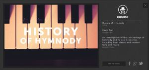Screencap of History of Hymnody page