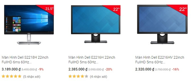 Màn hình Dell 22 inch
