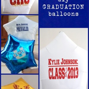 Make Your Own Mass Rad Graduation, Birthday or Celebration Balloons