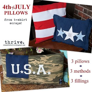 Make Your Own FREE 4th of July Pillows from scraps and Easter bunnies!