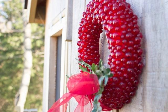 Hanging Cranberry wreath