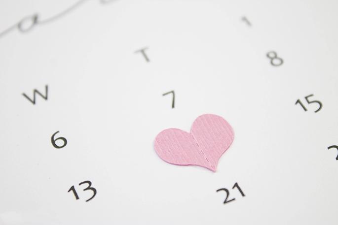 February Ombré Heart Calendar