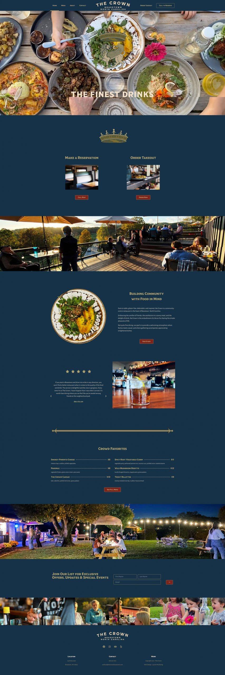The Crown Brasstown Website