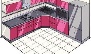 L Shaped Kitchen layout