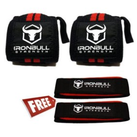 Iron Bull Strength Wrist Wraps & Lifting Straps
