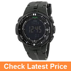 Casio Men's PRW-3000-1ACR Protrek Black Sport Watch