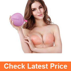 Komene Strapless Self Adhesive Silicone Push-up Pink Bra 2017 New