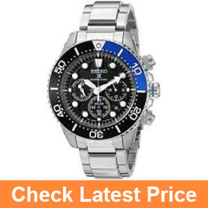 Seiko Men's SSC017 Prospex Solar Stainless Steel Dive Watch