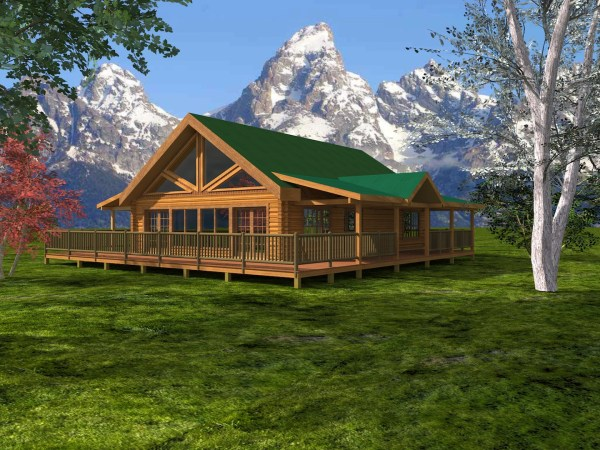 Walland Pass Log Home Custom Timber Log Homes