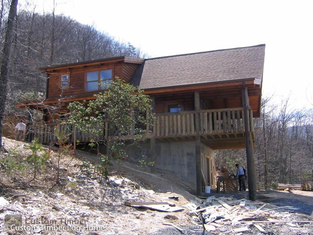 Dark Stained Log Homes Custom Timber Log Homes