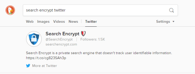 Search Encrypt Twitter - DuckDuckGo Search