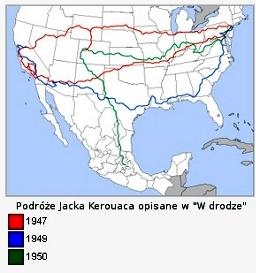 """Podróże Jacka Kerouaca przez USA opisane we """"W drodze"""""""
