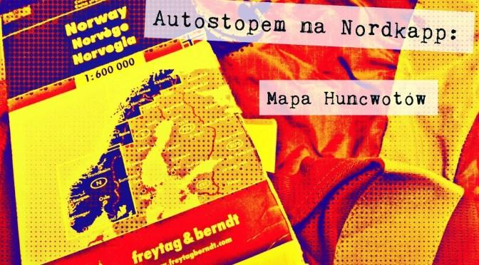 Autostopem na Nordkapp: Mapa huncwotów