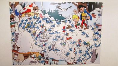 Smerfy w muzeum komiksu w brukseli
