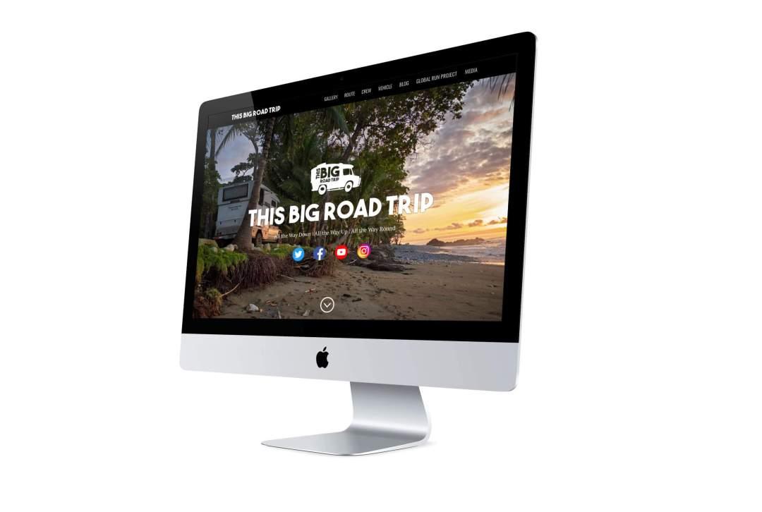 this big road trip web page visual