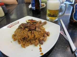 Duck rice my friend and I got while wandering around one night.