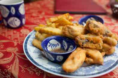 Fish and chips in Hoi An, Vietnam.