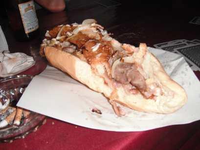 Chicken sandwich in Vang Vieng, Laos.