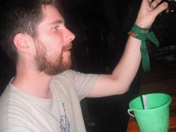 Drinking in Vang Vieng, Laos.