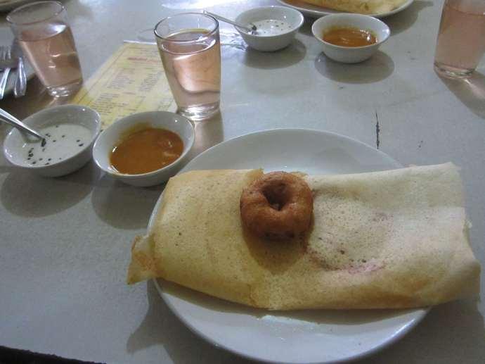 Dosa in Kollam, India.