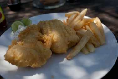 Fish and chips in Gili Trawangan.