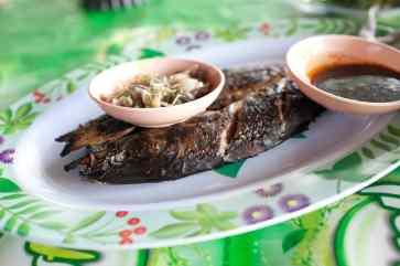 Fish lunch in Lovina, Bali.