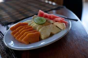 Fruit plate in Lovina, Bali.