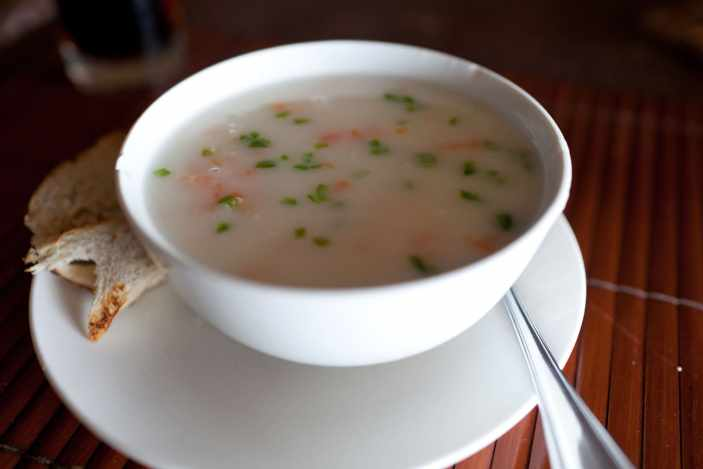 Seafood soup in El Nido, Philippines.